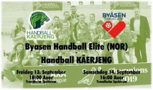 EHF Cup Dammen 2019 : Byasen Handball Elite (NOR) – HB Käerjeng