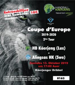 D'Gewënner vun der EHF Challenge Cup Tombola sti fest.