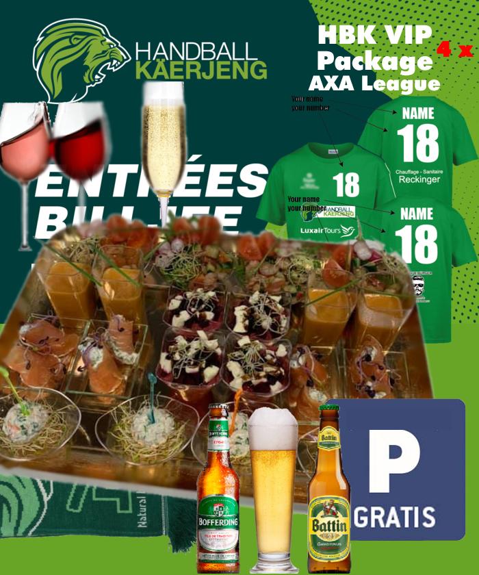 HBK VIP Package fir 4 Persounen