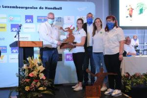 HBK Dammen offiziell geéiert fir den Titel Champion vu Lëtzebuerg 2020