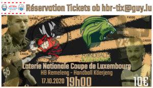 Aachtel Finall Coupe de Luxembourg HB Rëmeleng – Handball Käerjeng (Hären)