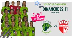 LIVESTREAM vun den EHF CUP Damme Matcher