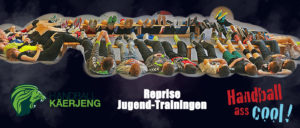 Ab e Méindeg 11. Januar nees Jugend-Training beim HBK