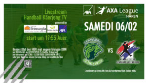 Livestream vum Häre Match HBK – HC Standard e Samschdeg (6.2) um 18:00 Auer